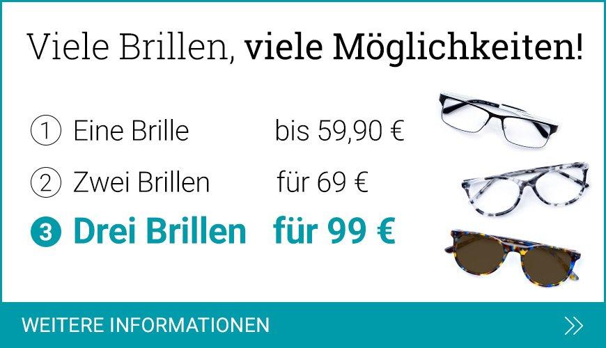 Drei Brillen für 99 €
