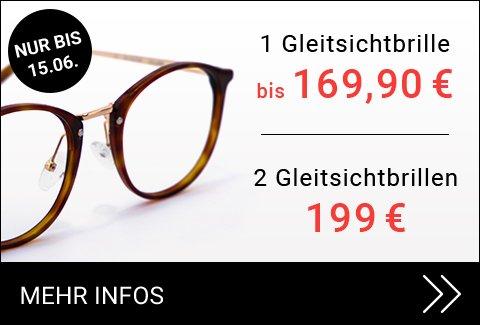 Zwei Gleitsichtbrillen für 199€