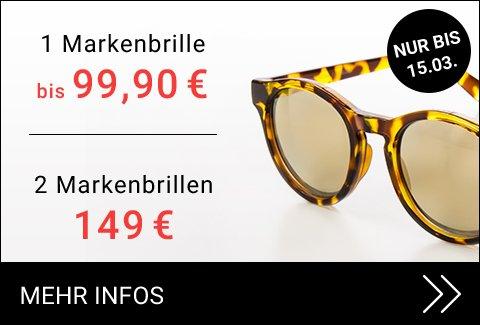 Zwei Markenbrillen für 149 €