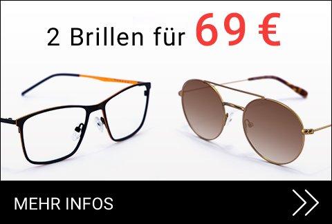 Zwei Brillen für 69 €