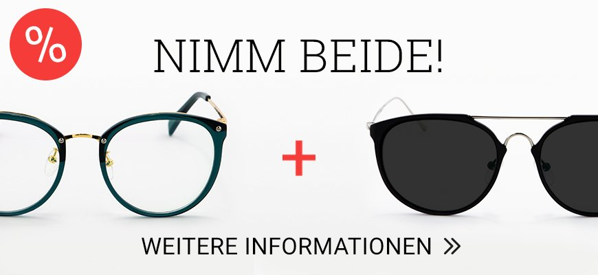 Zwei Brillen für 79 Euro