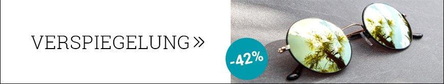 Verspiegelte Gläser 42% reduziert